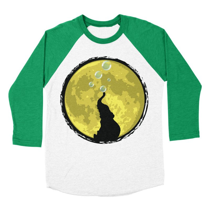 Elephant Moon Women's Baseball Triblend Longsleeve T-Shirt by Kamonkey's Artist Shop