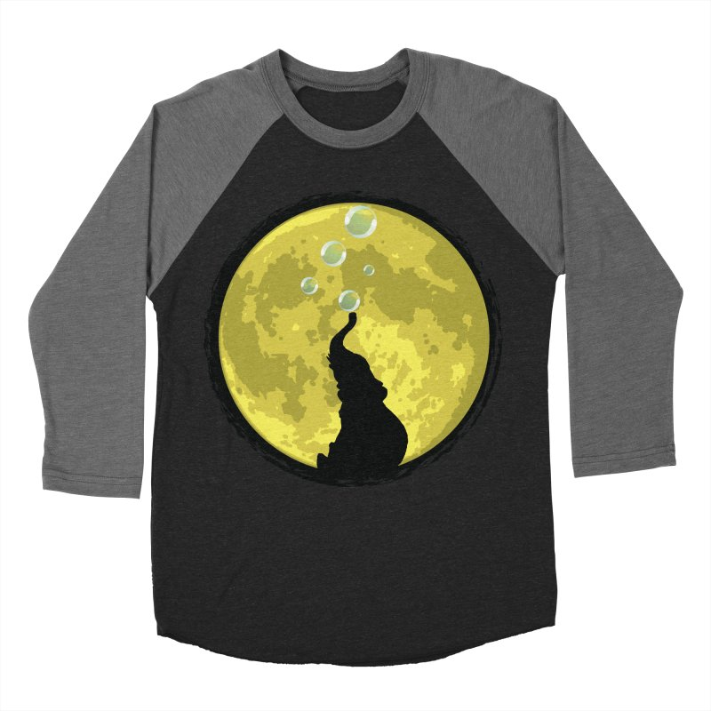Elephant Moon Men's Baseball Triblend T-Shirt by Kamonkey's Artist Shop