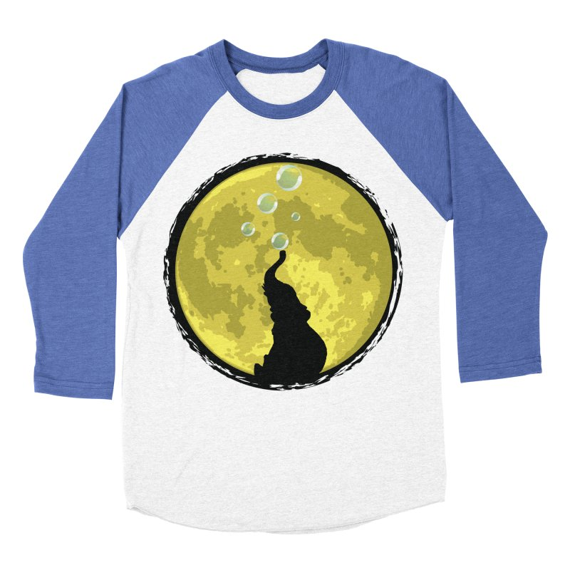 Elephant Moon Men's Baseball Triblend Longsleeve T-Shirt by Kamonkey's Artist Shop