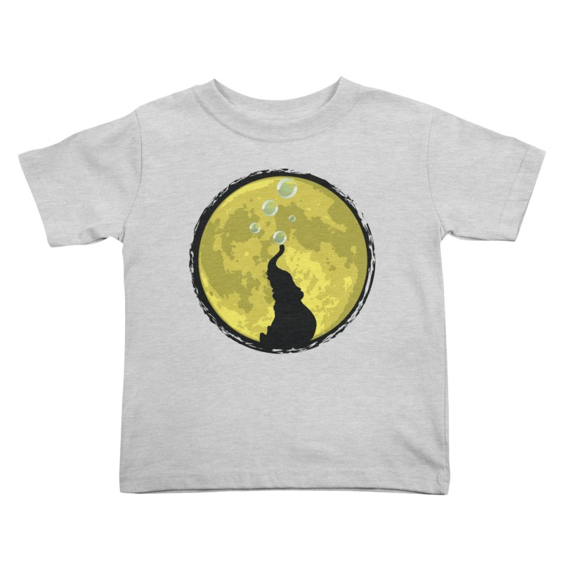 Elephant Moon Kids Toddler T-Shirt by Kamonkey's Artist Shop
