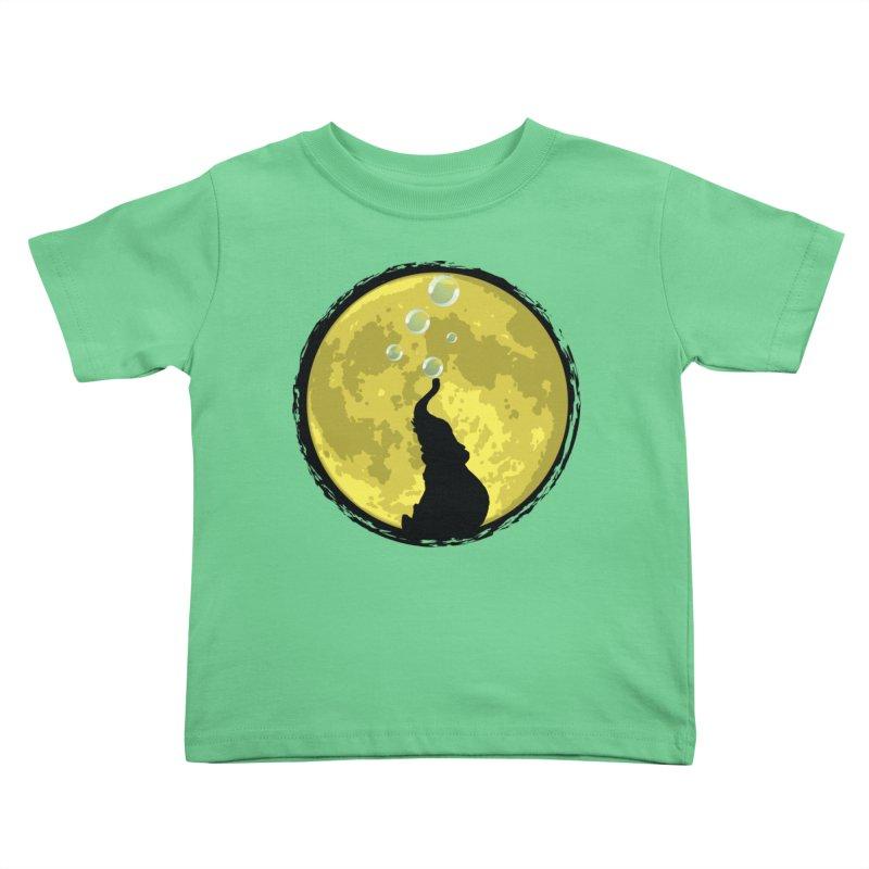 Elephant Moon Kids Toddler T-Shirt by Kamonkey's Artist Shop