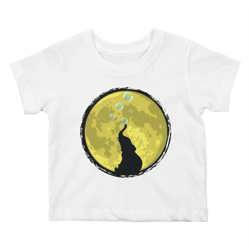 Elephant Moon Kids Baby T-Shirt by Kamonkey's Artist Shop