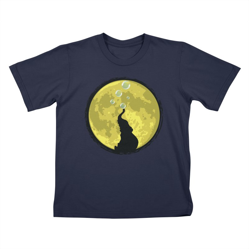Elephant Moon Kids T-Shirt by Kamonkey's Artist Shop