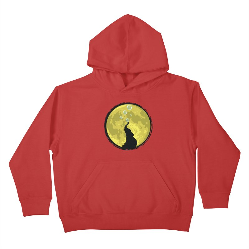 Elephant Moon Kids Pullover Hoody by Kamonkey's Artist Shop