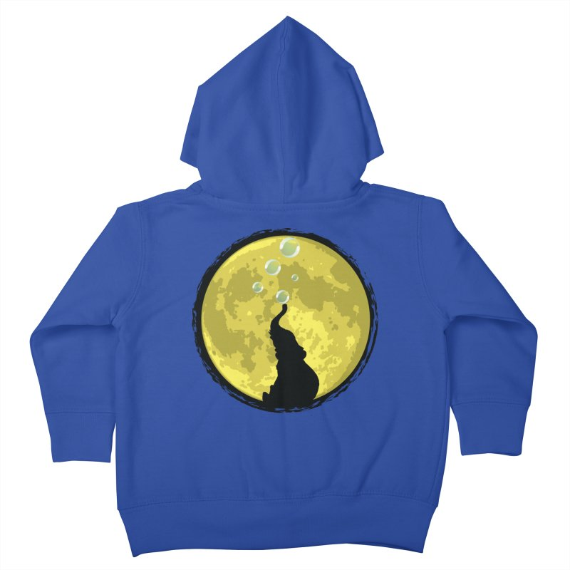 Elephant Moon Kids Toddler Zip-Up Hoody by Kamonkey's Artist Shop