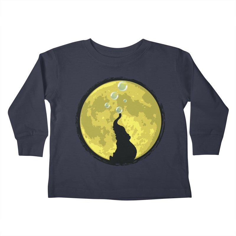Elephant Moon Kids Toddler Longsleeve T-Shirt by Kamonkey's Artist Shop