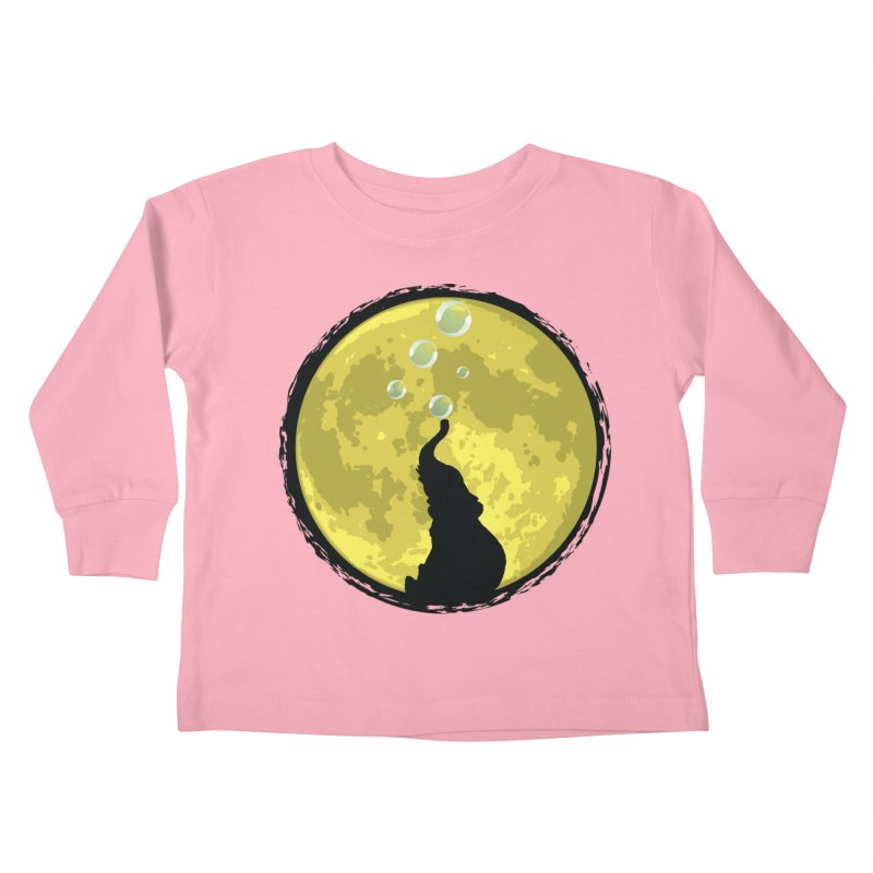 Elephant Moon Kids Toddler Longsleeve T-Shirt by Kamonkey's Artist Shop