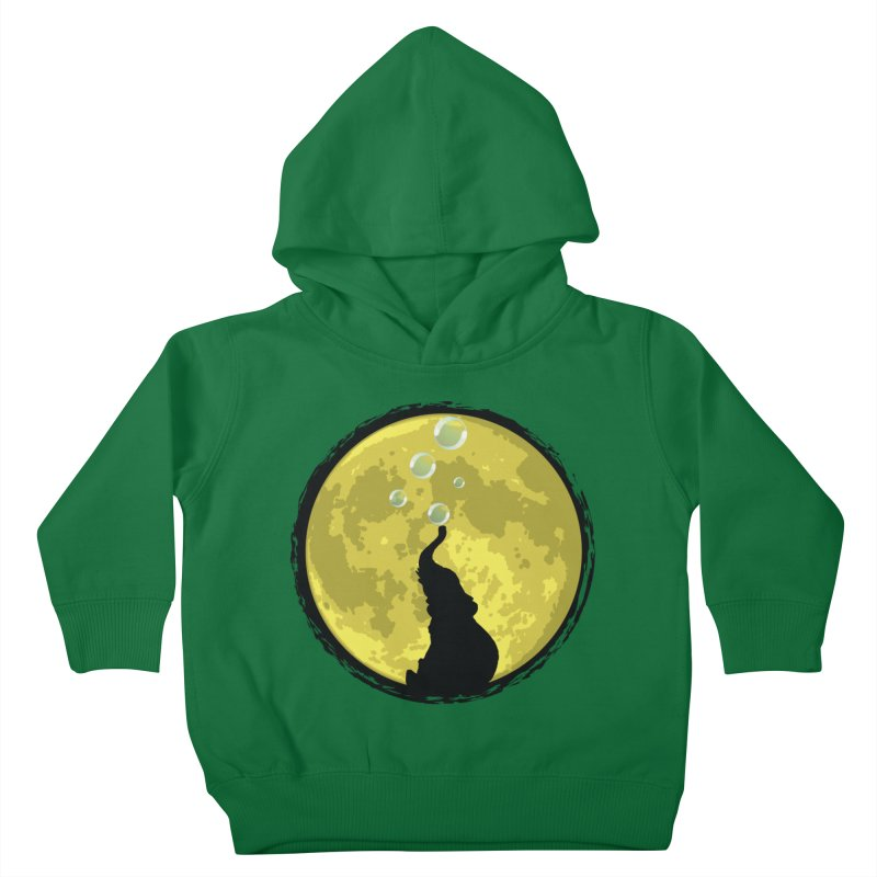 Elephant Moon Kids Toddler Pullover Hoody by Kamonkey's Artist Shop