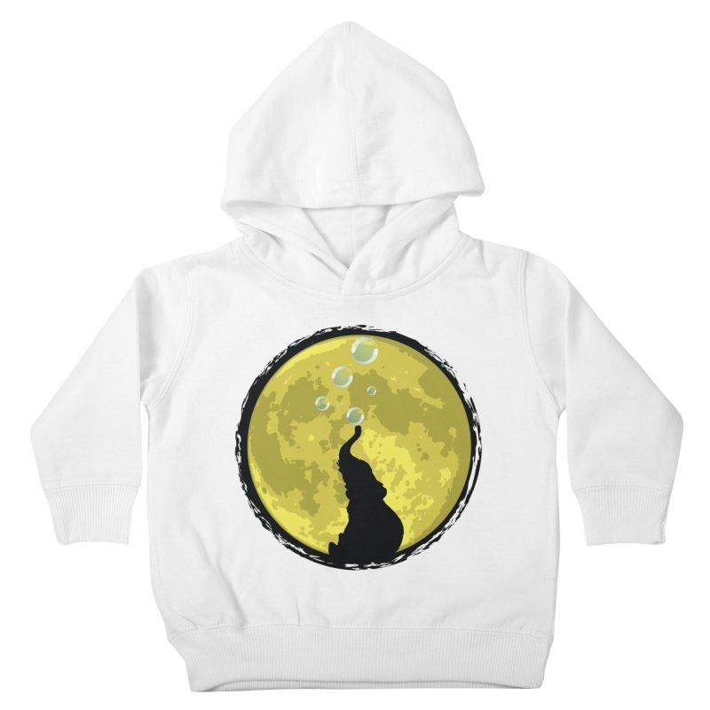 Elephant Moon Kids Toddler Pullover Hoody by Kamonkey's Artist Shop