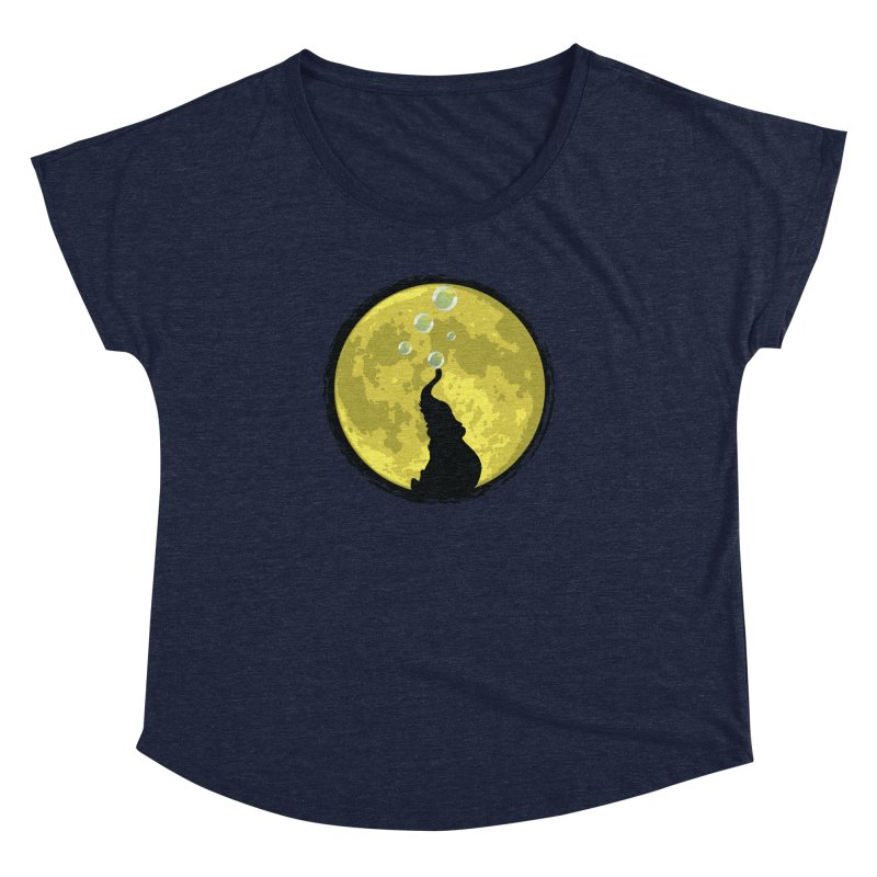 Elephant Moon Women's Dolman by Kamonkey's Artist Shop