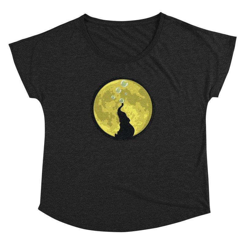 Elephant Moon Women's Dolman Scoop Neck by Kamonkey's Artist Shop