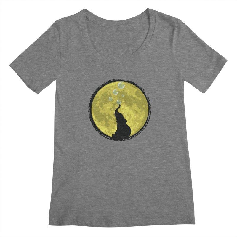 Elephant Moon Women's Scoopneck by Kamonkey's Artist Shop