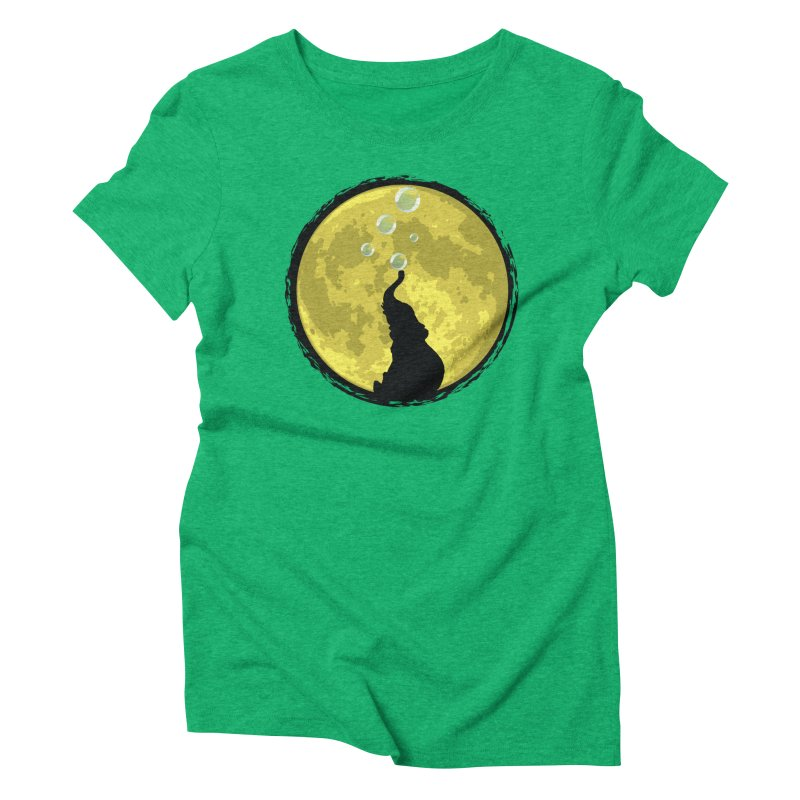 Elephant Moon Women's Triblend T-Shirt by Kamonkey's Artist Shop