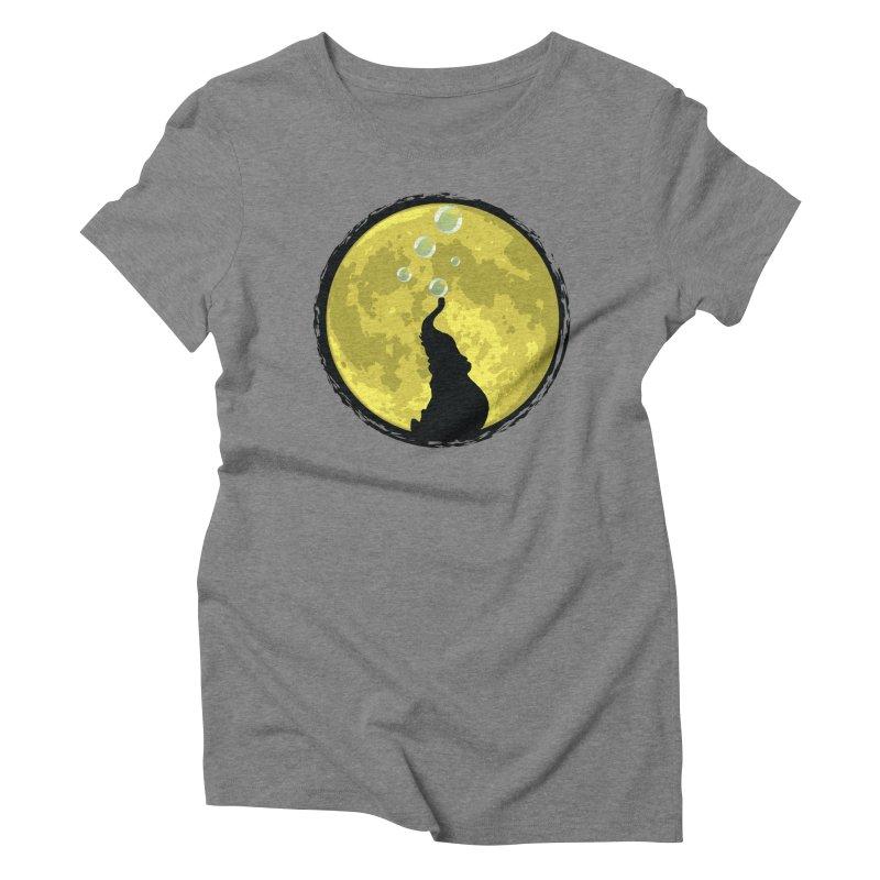 Elephant Moon Women's Triblend T-Shirt by Kamonkey's Artist Shop