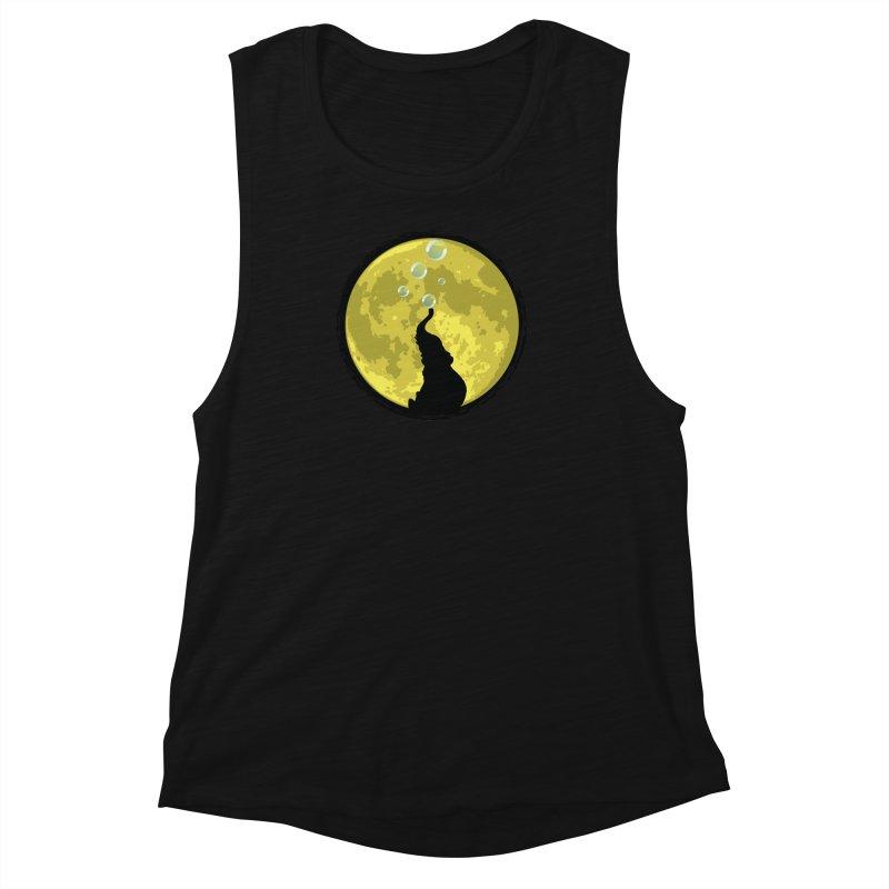 Elephant Moon Women's Muscle Tank by Kamonkey's Artist Shop