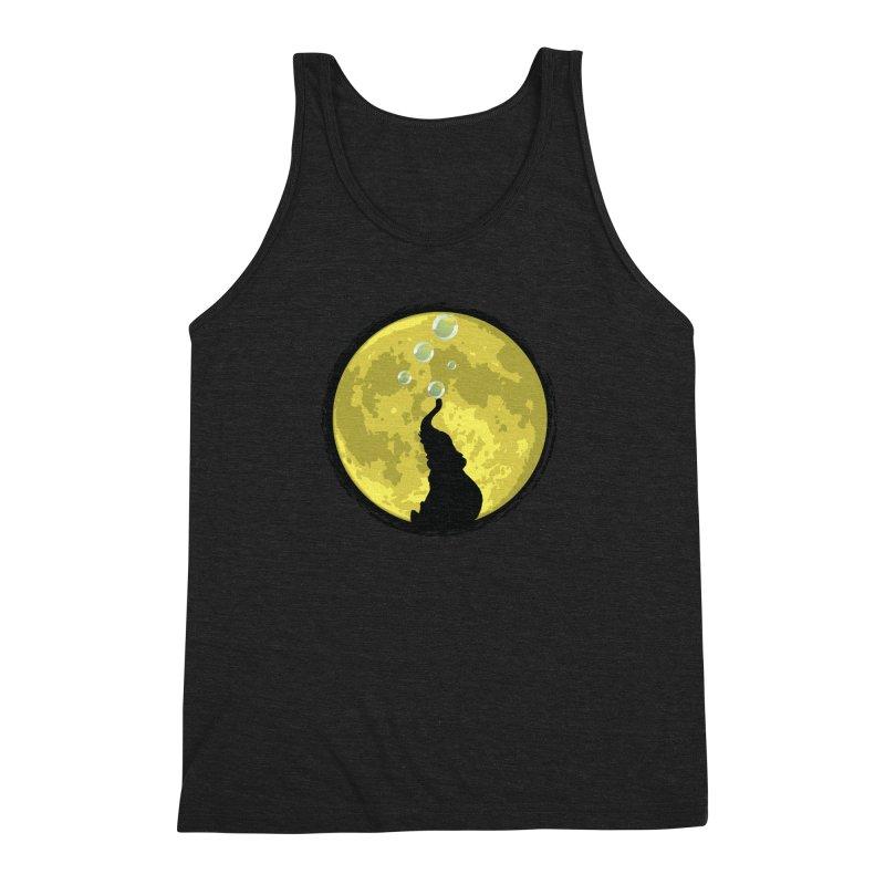 Elephant Moon Men's Triblend Tank by Kamonkey's Artist Shop