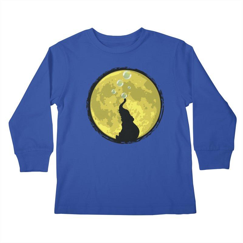 Elephant Moon Kids Longsleeve T-Shirt by Kamonkey's Artist Shop
