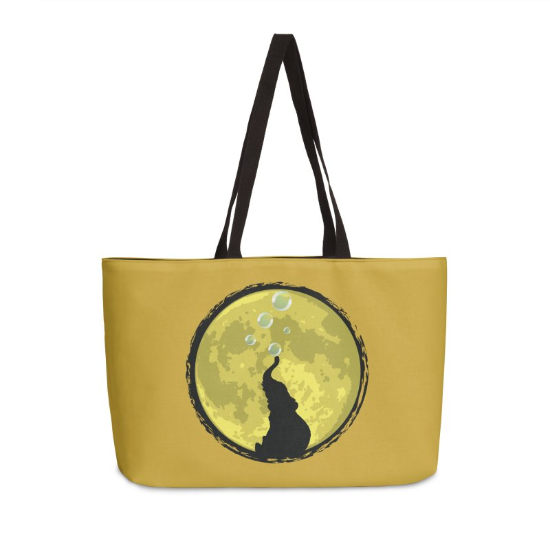 Elephant Moon Accessories Weekender Bag Bag by Kamonkey's Artist Shop