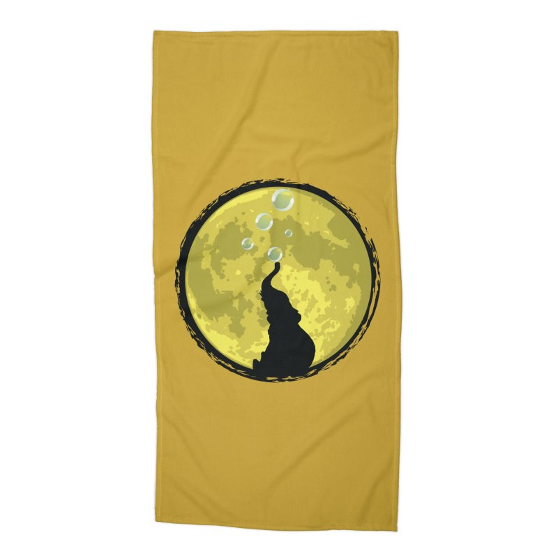 Elephant Moon Accessories Beach Towel by Kamonkey's Artist Shop