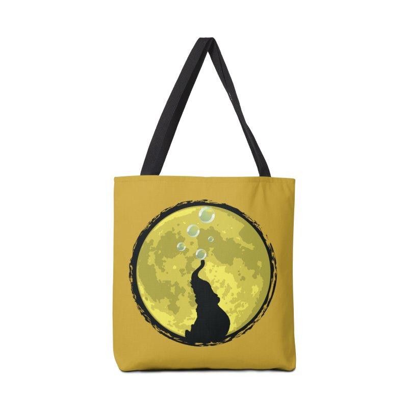 Elephant Moon Accessories Bag by Kamonkey's Artist Shop