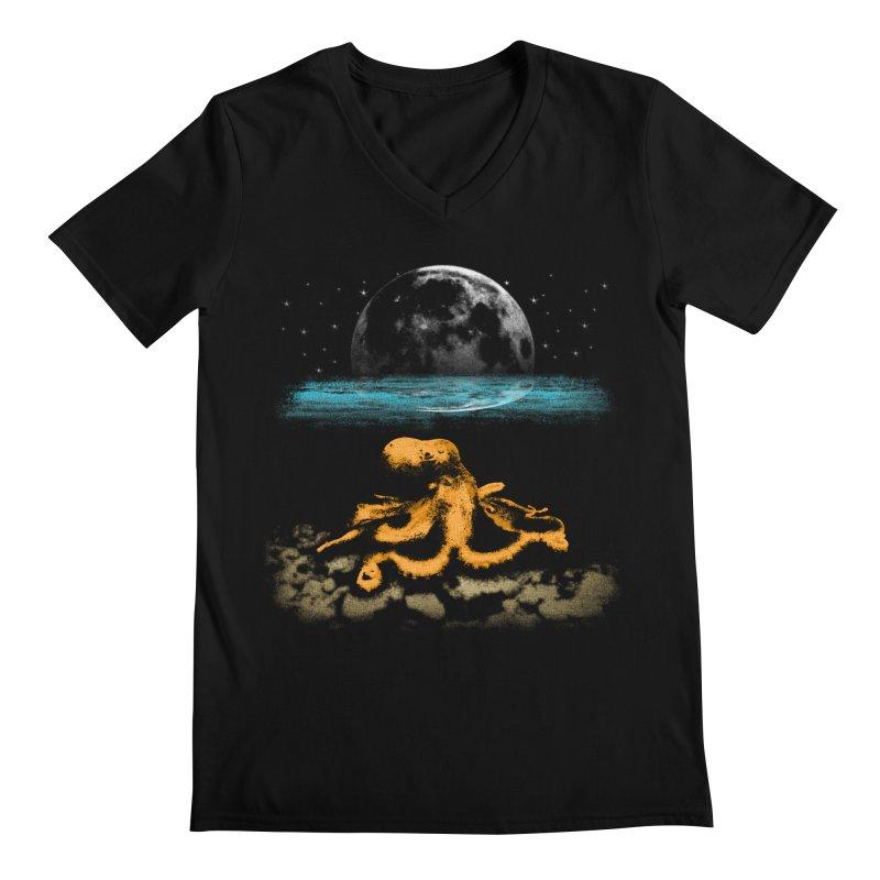 The Octopus Men's V-Neck by Kamonkey's Artist Shop