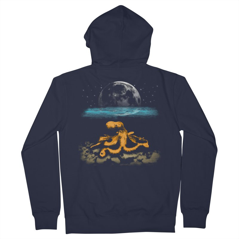 The Octopus Women's French Terry Zip-Up Hoody by Kamonkey's Artist Shop