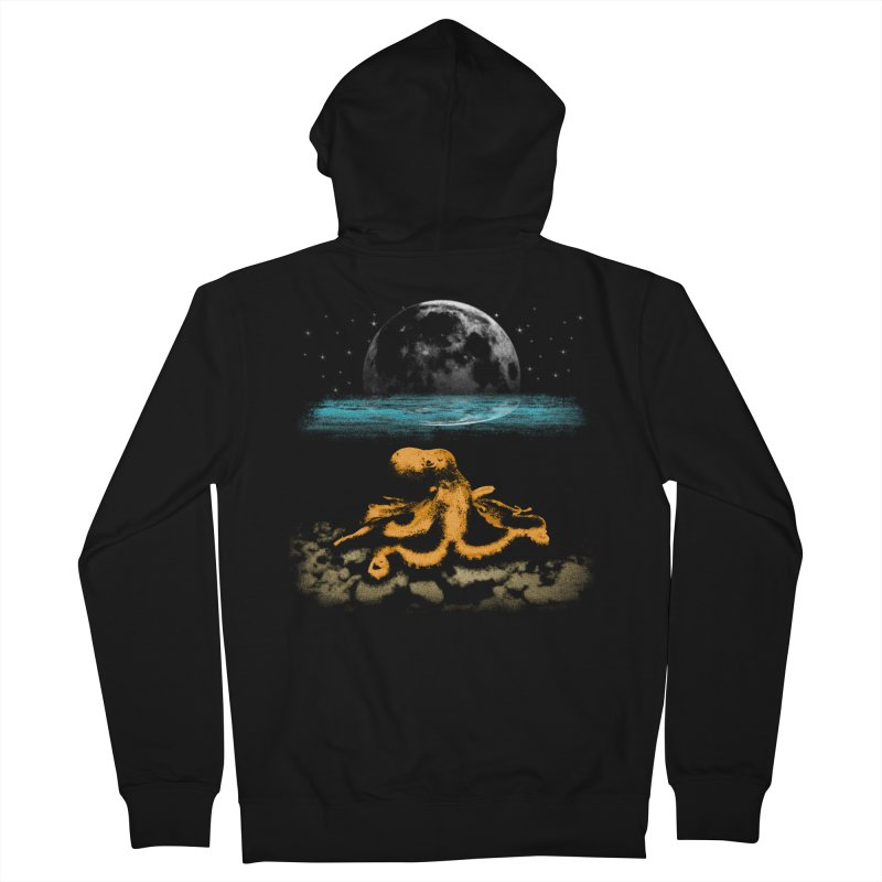 The Octopus Men's French Terry Zip-Up Hoody by Kamonkey's Artist Shop