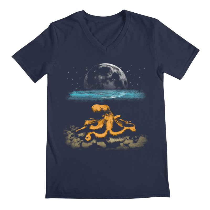 The Octopus Men's V-Neck by Kamonkey's Artist Shop
