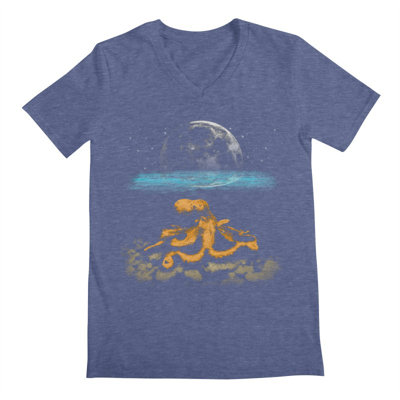 The Octopus Men's Regular V-Neck by Kamonkey's Artist Shop