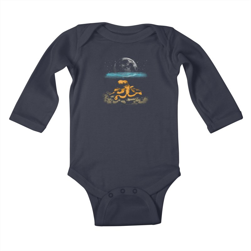 The Octopus Kids Baby Longsleeve Bodysuit by Kamonkey's Artist Shop