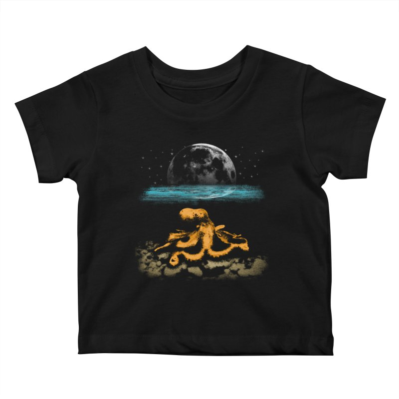 The Octopus Kids Baby T-Shirt by Kamonkey's Artist Shop