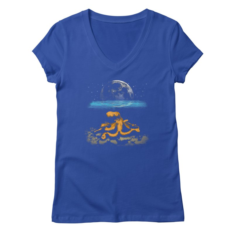 The Octopus Women's Regular V-Neck by Kamonkey's Artist Shop