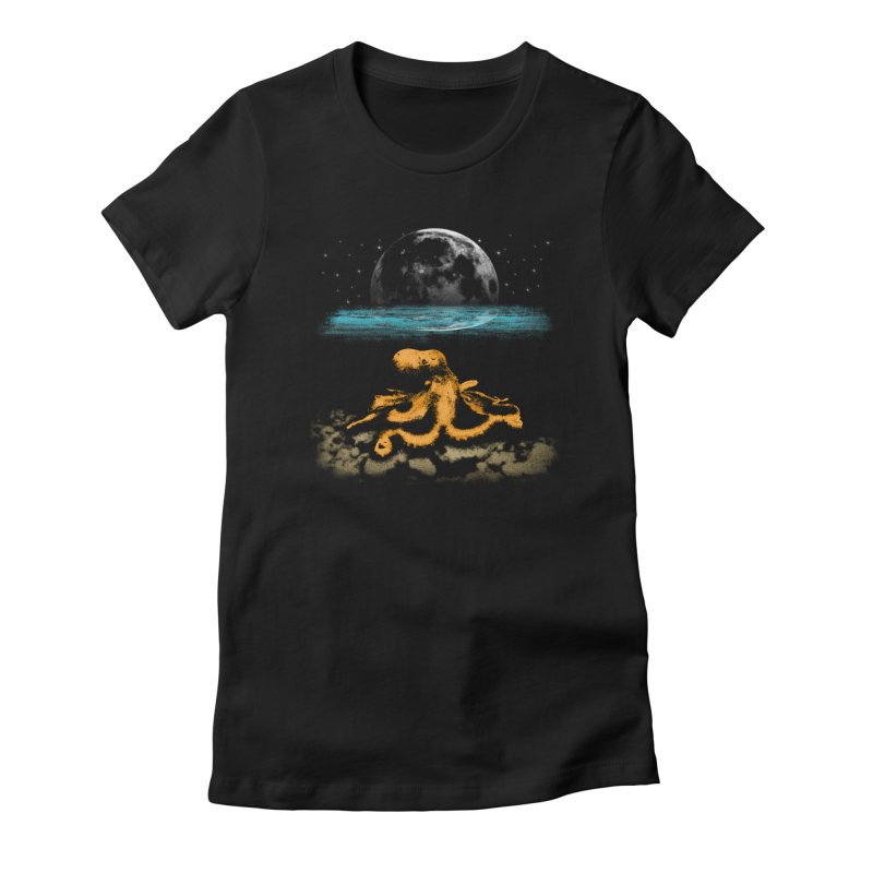 The Octopus Women's Fitted T-Shirt by Kamonkey's Artist Shop