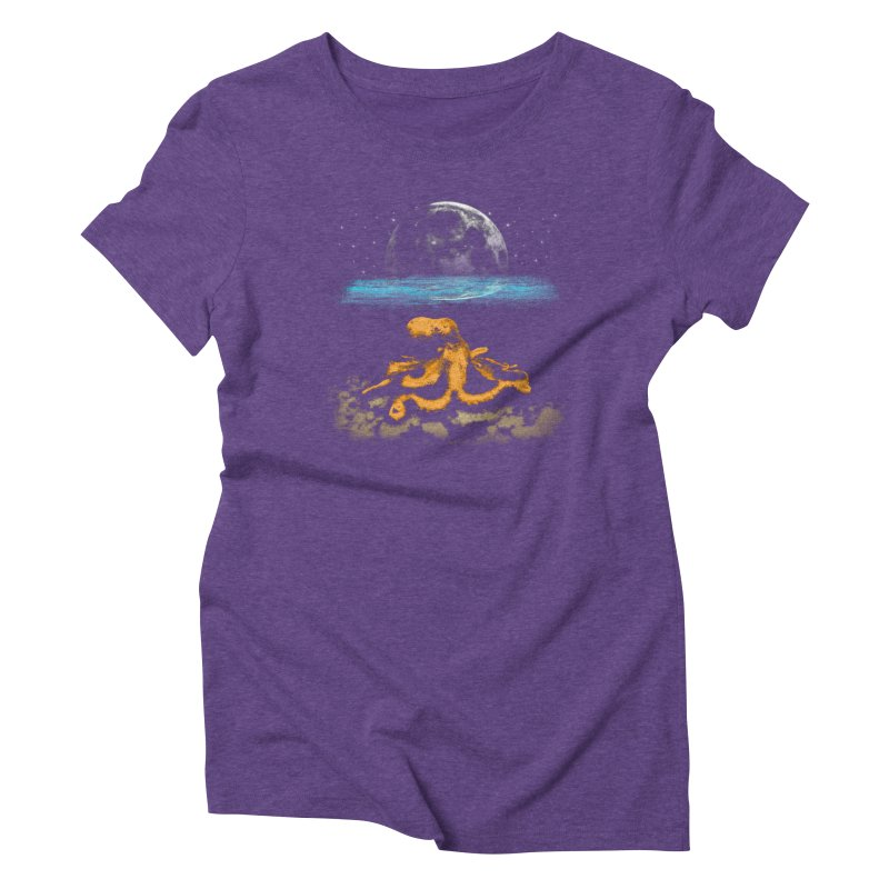 The Octopus Women's Triblend T-Shirt by Kamonkey's Artist Shop