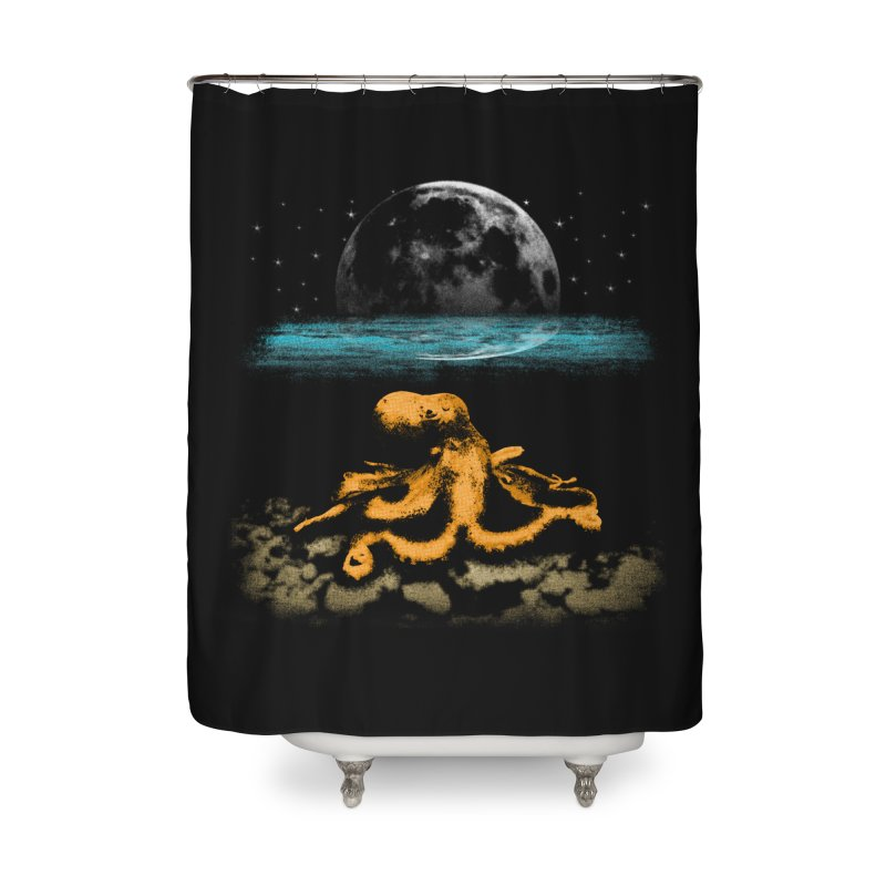 The Octopus Home Shower Curtain by Kamonkey's Artist Shop