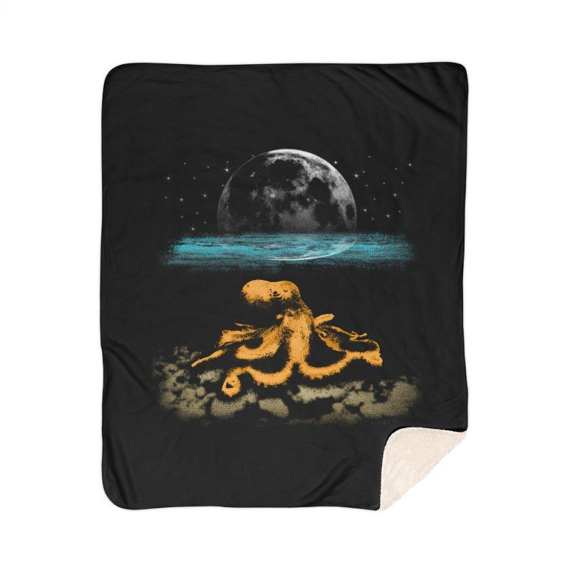 The Octopus Home Sherpa Blanket Blanket by Kamonkey's Artist Shop