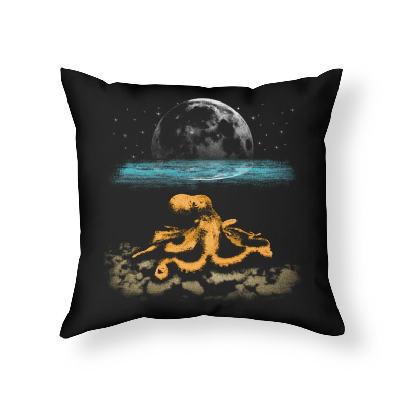 The Octopus Home Throw Pillow by Kamonkey's Artist Shop