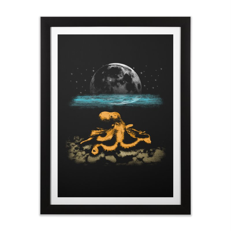 The Octopus Home Framed Fine Art Print by Kamonkey's Artist Shop