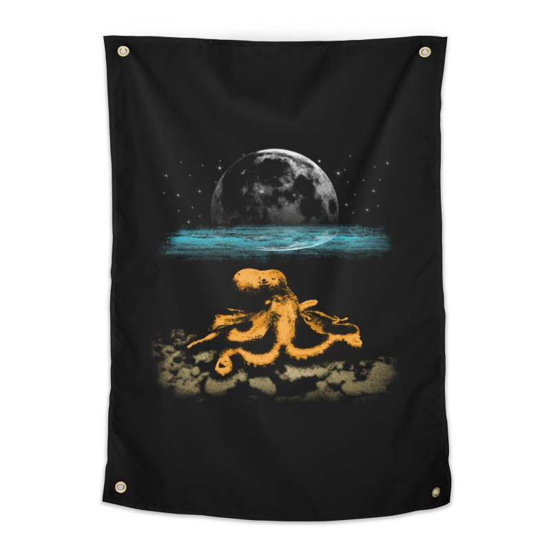 The Octopus Home Tapestry by Kamonkey's Artist Shop