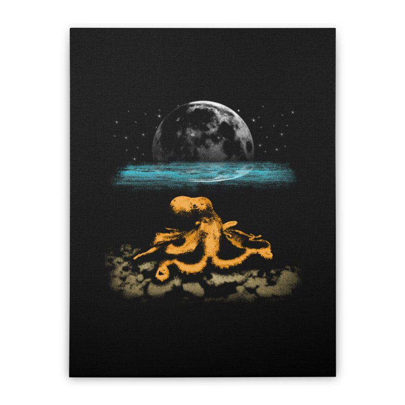 The Octopus Home Stretched Canvas by Kamonkey's Artist Shop