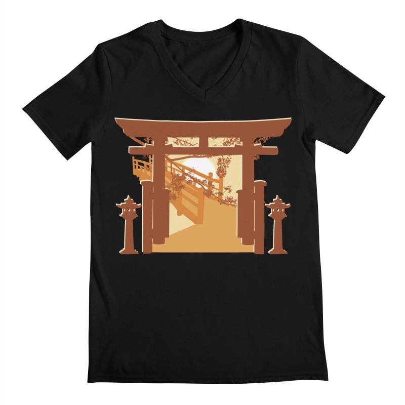 The Temple Men's V-Neck by Kamonkey's Artist Shop