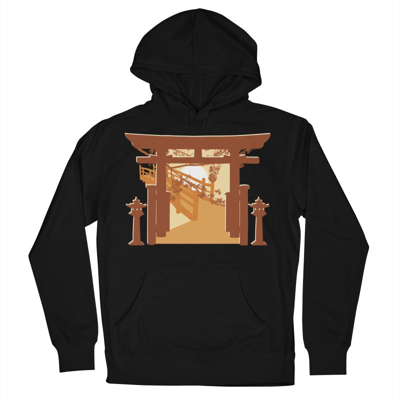 The Temple Men's French Terry Pullover Hoody by Kamonkey's Artist Shop