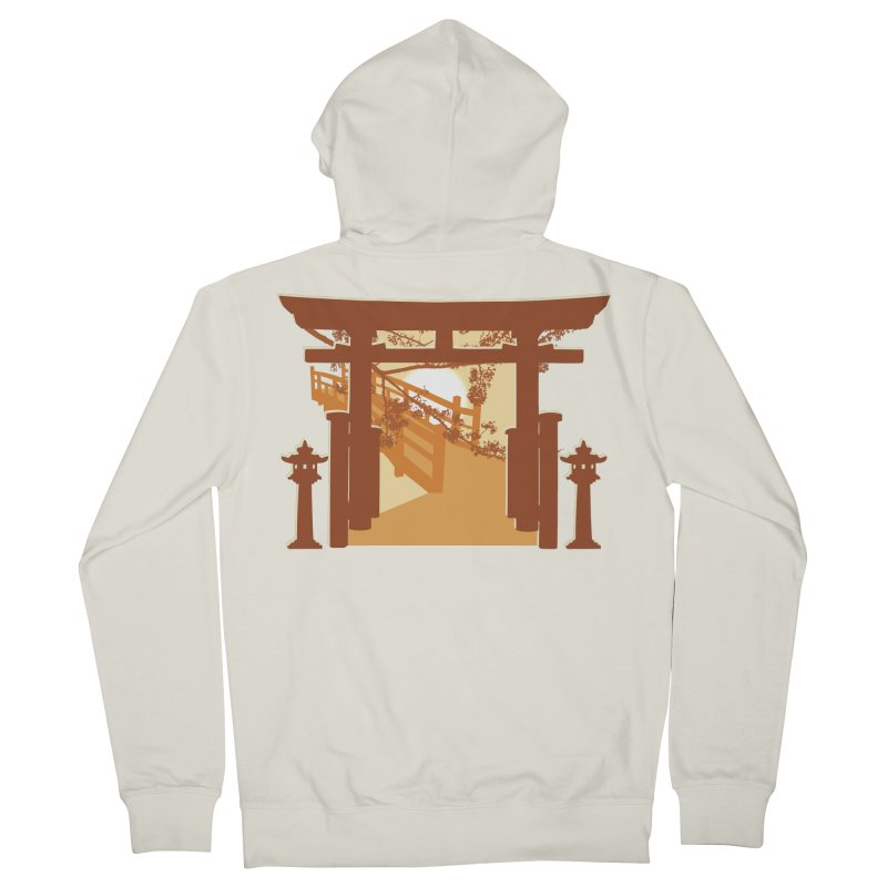 The Temple Women's French Terry Zip-Up Hoody by Kamonkey's Artist Shop