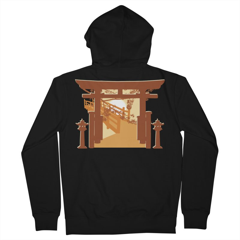 The Temple Men's French Terry Zip-Up Hoody by Kamonkey's Artist Shop