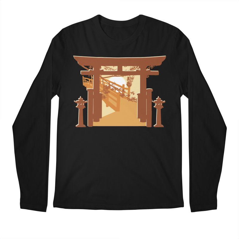 The Temple Men's Regular Longsleeve T-Shirt by Kamonkey's Artist Shop