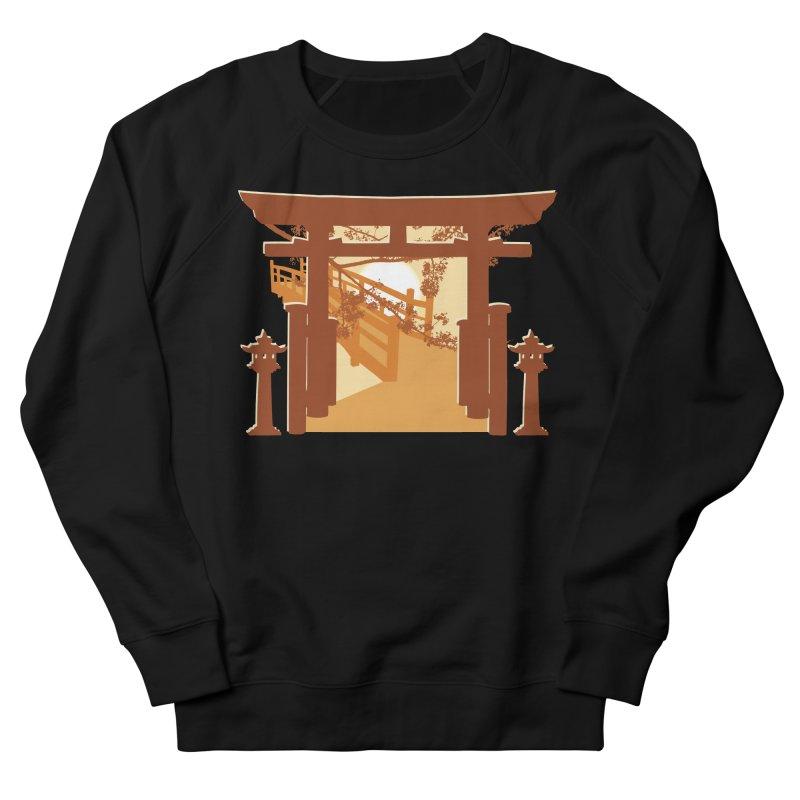 The Temple Men's French Terry Sweatshirt by Kamonkey's Artist Shop