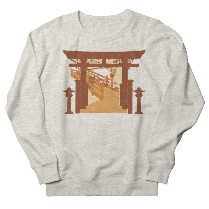 The Temple Men's French Terry Sweatshirt by Kamonkey's Artist Shop