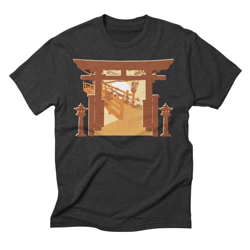 The Temple Men's Triblend T-Shirt by Kamonkey's Artist Shop