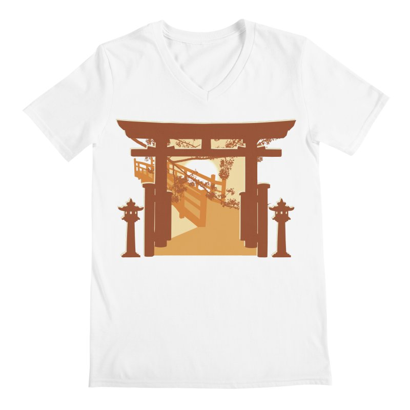 The Temple Men's V-Neck by Kamonkey's Artist Shop