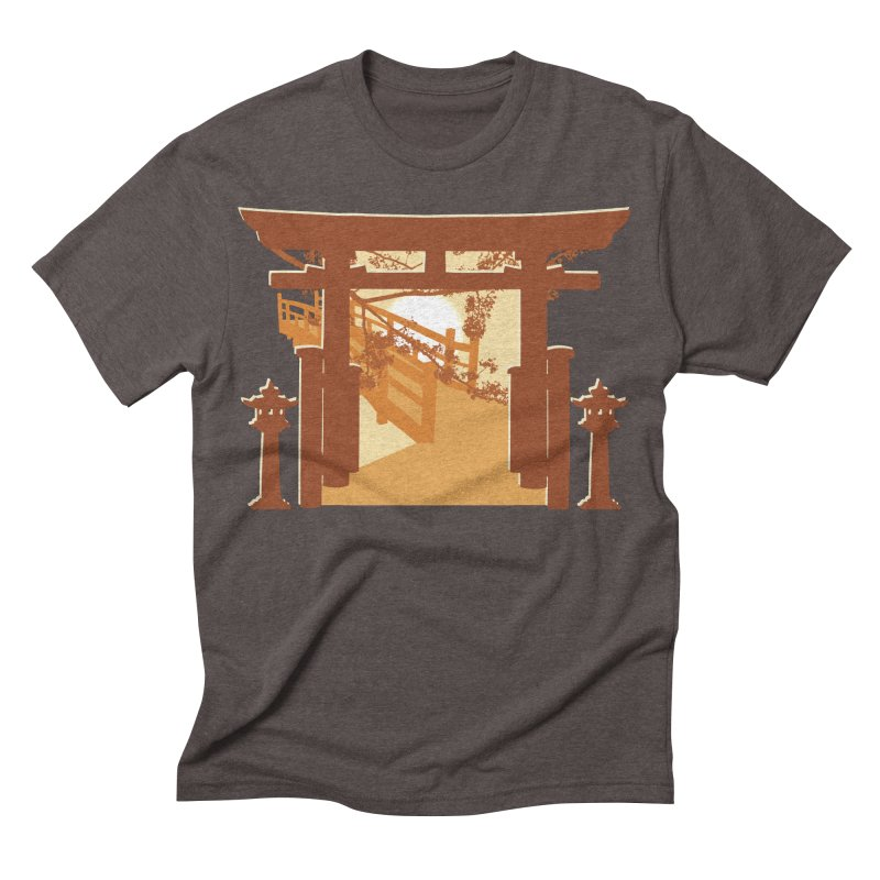 The Temple Men's Triblend T-shirt by Kamonkey's Artist Shop